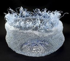 tertium non data: bowl made from recycled plastic Old Bottles, Plastic Bottles, Diy Storage Containers, Pet Bottle, Bottle Packaging, Recycled Jewelry, Acrylic Resin, Assemblage Art, People Art