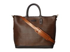 COACH Mercer Woven Leather Craftsmans Tote. #coach #bags #shoulder bags #hand bags #leather #tote #