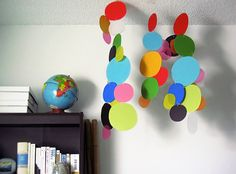 Dangling mobiles for kids rooms.