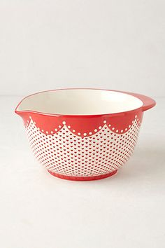 Filomena Mixing Bowl #anthropologie adorable bowl i got from Christine for my birthday! ;)