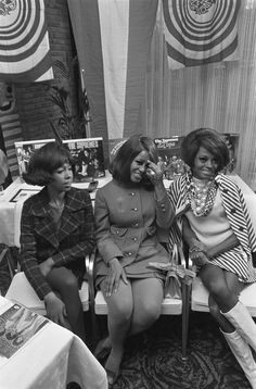 The Supremes at a press conference Hilton Hotel Amsterdam January 15th 1968.