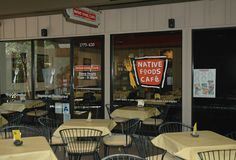 Native Foods Cafe at Smoketree Plaza - E. Palm Canyon Dr. Palm Springs, Ca.