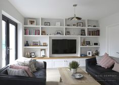 TV and media living room design
