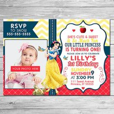 Greetings and thanks for taking a look at my Printable Snow White Invitation - a great choice when considering a Snow White Themed Birthday