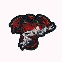 Biker Sports Skull Demon Quotation Iron//Sew On Embroidered Patch Collection