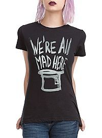 HOTTOPIC.COM - Alice In Wonderland We're All Mad Here Girls T-Shirt