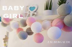 Lichterketten - ⭐️ BATTERIE 20er LED Lichterkette Baby Girl - ein Designerstück von Zaubergaudi bei DaWanda