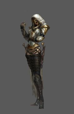 Apparently this falls in both sci-fi and fantasy. Dark Fantasy, Fantasy Armor, Medieval Fantasy, Fantasy Girl, Dnd Characters, Fantasy Characters, Female Characters, Character Concept, Character Art
