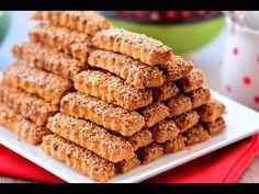 Susamlı Çubuk Kurabiye ( Çıtır çıtır şahane bir lezzet) - YouTube