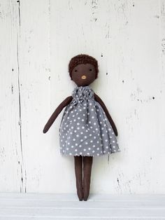 Rag doll, handmade, one of a kind/ Anette. $80.00, via Etsy.