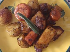 Balsamic root vegetables.