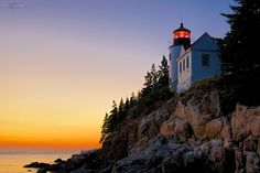 Bass Harbor Head Lighthouse at Sunset by Steven Serdikoff on 500px