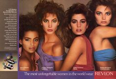 KERSTI BOWSER- CHRISTY- CINDY- PAULINA Revlon Unforgettable Ad  1987 Photo:Avedon