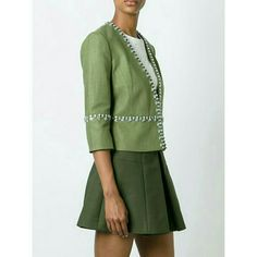Gorgeous Tory Burch Green Embellished Blazer