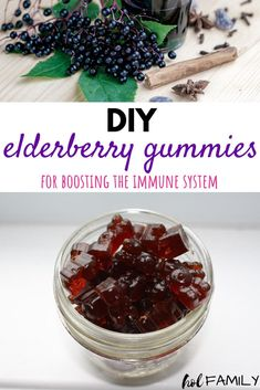 These homemade elderberry gummy bears are immune boosting and the perfect solution to stay healthy during cold and flu season. With just four healthy ingredients, this is one treat you can feed your kids daily and feel good about. #elderberry #homemadegummies #immuneboosting #holfamily Healthy Kids, Healthy Habits, How To Stay Healthy, Healthy Living, Healthy Snacks, Elderberry Gummies, Elderberry Recipes, Elderberry Syrup, Homemade Gummies