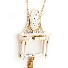 Dressing Table Pendant Dressing Table, Pendant Lamp, Silver Color, Swarovski Crystals, Clock, Fashion Jewellery, Interiors, Home Decor, Collection