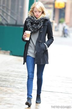 Emma Stone out in New York City, New York - February 5, 2013