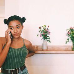 "Amandla Stenberg -""What if America Loved Black People as much as. Black Girl Magic, Black Girls, Black Women, Twists, Pretty People, Beautiful People, Curly Hair Styles, Natural Hair Styles, Black Girl Aesthetic"