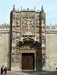 Fachada, el Colegio de San Gregorio, Valladolid, España (estilo isabelino)