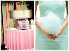 Cotton candy at reception