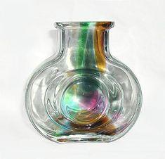 HELENA TYNELL - Glass vase for Riihimäen Lasi Oy, Finland. Glass Design, Design Art, New Pins, Finland, Modern Contemporary, Glass Art, Retro Vintage, Vase, Vases
