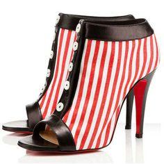 Christian Louboutin Maotic Ankle Cotton Ankle Boots 120mm Cotton/DAJ*