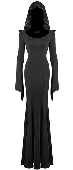 hooded maxi dress <3                                                                                                                                                                                 More
