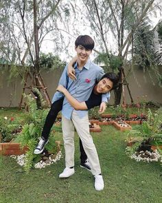 Perth and Saint who play Ae and Pete in Love ByChance Perth, Boys Like, Cute Boys, Taiwan Drama, Theater, Bad Romance, Cute Gay Couples, Thai Drama, Young Love