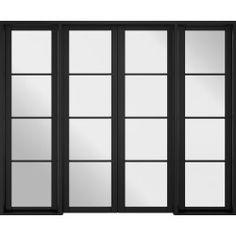 Room Divider Black Soho W6 - Room Dividers - Industrial Manhattan - Internal Doors   LPD Doors Soho Rooms, Room Divider Doors, Room Dividers, Fire Doors, Architrave, Door Sets, Door Accessories, Black Doors, House Windows