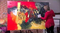 Artiste peintre : création d'une toile peinture acrylique : Zodiaque PO…