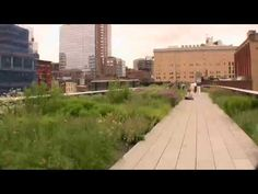 High Line Park: Walking above the West Side in NYC - YouTube