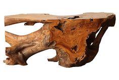 One Kings Lane - Organic Elements - Cara Bench, Natural