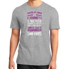 I NEVER TESTICULAR CANCER District T-shirt (DT6000) is made of 4.3 ounce, 100% ring-spun combed cotton. Heathers are made of 4.3 ounce, 50/50 ring-spun combed cotton/poly. Heather Grey is made of 90/1
