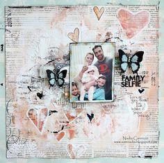 Family Selfie *October SCRAPS OF ELEGANCE* - Scrapbook.com