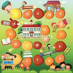 Buy Board Game Theme for Children by interactimages on GraphicRiver. Illustration of a board game theme for children Board Game Themes, Board Games, Free Illustrations, Free Vector Art, Clip Art, Children, School, Pictures, Bus Cartoon