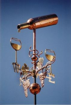 Wine Bottle Weather Vane