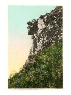 Old Man of the Mountains, White Mountain, New Hampshire Giclee Print at Art.com