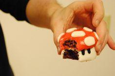 mushroom cupcake