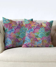 Another great find on #zulily! Stephanie Corfee Mauve Flourish Throw Pillow - Set of Two #zulilyfinds