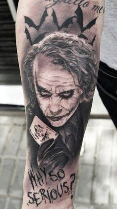 Joker Horror Clown Tattoo #Tattoo, #Tattooed, #Tattoos