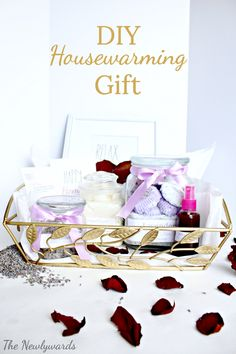 DIY Housewarming Gift  - spa kit full of homemade natural bath & beauty products made with simple pantry items for just $15!!