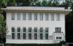 Wagner Villa II  Wagner's tendency to reduce the style of Jugendstil to functional forms in his later years is obvious  1912-13 by Otto Wagner