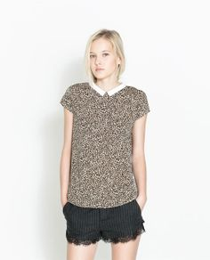 ZARA - TRF - LEOPARD PRINT TOP  Love this, just bought it from Zara's website!