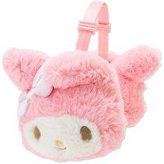 マイメロディ キッズボアイヤーマフ ❤ liked on Polyvore featuring hats, pink and sanrio