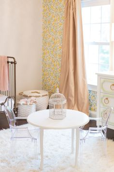 Toddler Table with Toddler Ghost Chairs - bring on the tea parties!