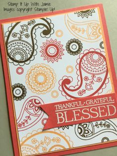 Paisleys & Posies - Stamp It Up With Jaimie - Stampin Up