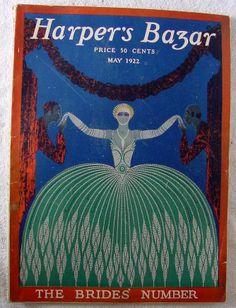 Vintage HARPER'S BAZAR Magazine complete May 1922 ERTE Art Deco cover Bazaar Erte Art, Magazine Art, Magazine Covers, Romain De Tirtoff, Vintage Vogue Covers, Elements And Principles, Vintage Magazines, Harpers Bazaar, French Artists