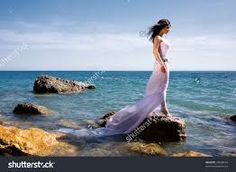 Image result for Photos girls at the beach in white dresses