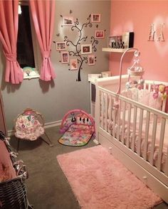 Get inspired to prepare and create the perfect room for your baby girl. These baby girl nursery ideas can help you create a cute girly room style. Baby Bedroom, Baby Room Decor, Nursery Room, Girl Nursery, Girls Bedroom, Room Baby, Baby Nursery Ideas For Girl, Baby Girl Rooms, Baby Girl Closet
