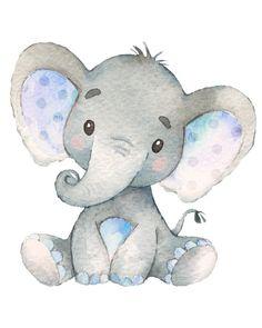 Shop Blue Elephant Baby Boy Shower Sprinkle Birthday Square Paper Coaster created by ViolinEvents. Baby Elephant Drawing, Elephant Nursery Decor, Elephant Theme, Nursery Prints, Elephant Drawings, Elephant Print, Baby Animal Drawings, Elephant Illustration, Nursery Ideas